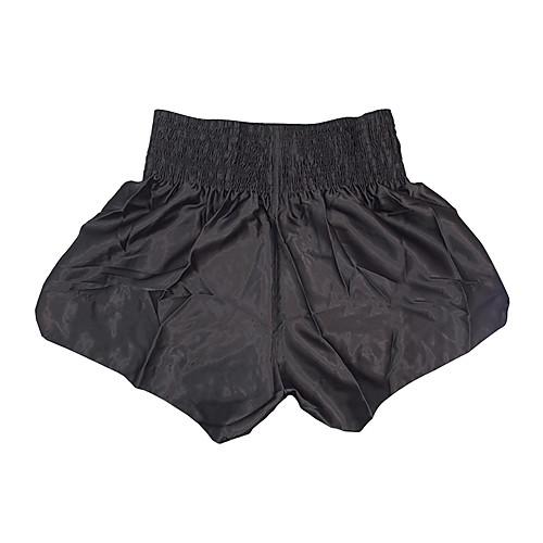 профессиональный кикбоксинг шорты вышивка черным и черное (средний размер)