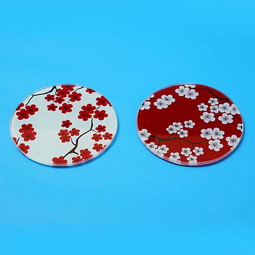 Довольно Сакура Стекло Coaster сувениры (набор из 2) Lightinthebox 65.000