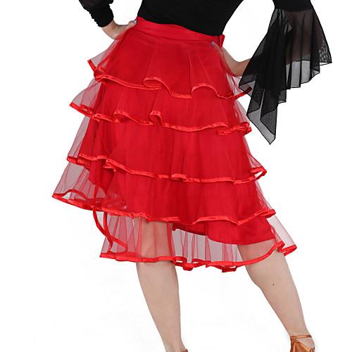 Танцевальная одежда вискоза, тюль латинского танца Юбка для дам больше цветов Lightinthebox 1881.000