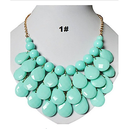 3 ряд слеза повод коренастый пузырь нагрудник tatement ожерелье Lightinthebox 429.000