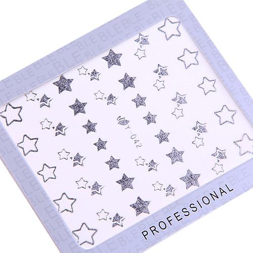 6PCS Серебряная вода трансферная печать стикеров Ультратонкие ногтей Lightinthebox 214.000
