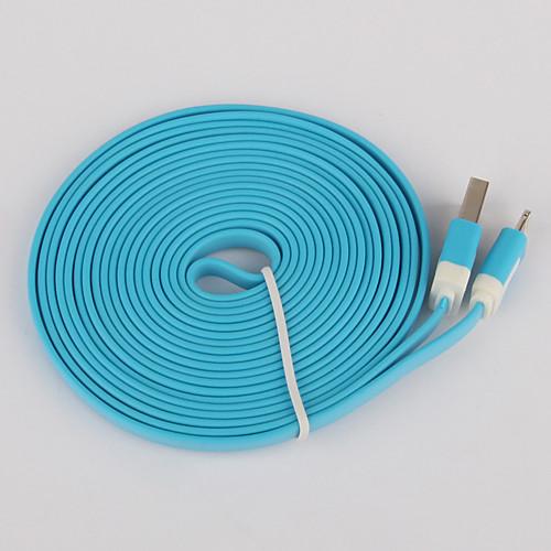 Данные 8pin красочный заряда и плоский кабель для Iphone 6 iPhone 6 плюс iPhone 5, Ipad мини, Ipad 4, Ipod (300 см длины) Lightinthebox 218.000