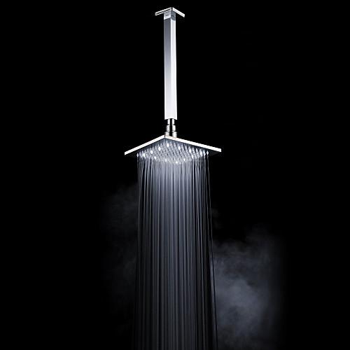 Хромированная отделка латунь 8-дюймовый светодиодный Белый площади душем потолочные Lightinthebox 3437.000