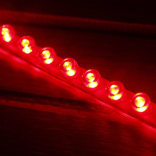 120см Автомобильные светодиодные прозрачные Гибкие светодиодные полосы, красный / белый / синий Lightinthebox 257.000