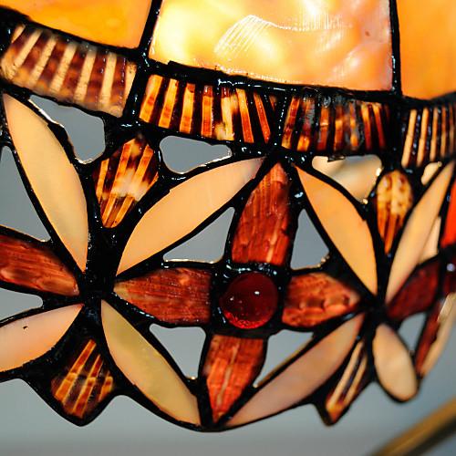 40W художественный Таблица Тиффани свет с Цветочные Витражи стеклянным абажуром в дуговых Стиль Arm Lightinthebox 6015.000