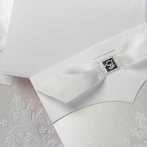 Урожай белый этаж-де-Лис свадебные приглашения со вставкой (набор из 50) Lightinthebox 3437.000