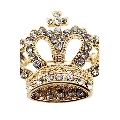 Великолепный сплав с Брошь Crystal Crown Женские Lightinthebox 227.000