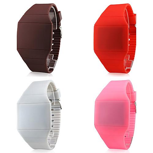 Резиновые светодиодные цифровые наручные часы унисекс (цвета в ассортименте) Lightinthebox 128.000
