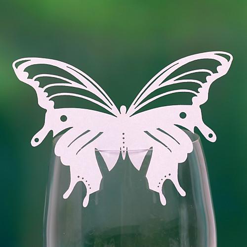 Довольно форме бабочки карта Место свадьбы Для стекла (набор из 12) Lightinthebox 180.000