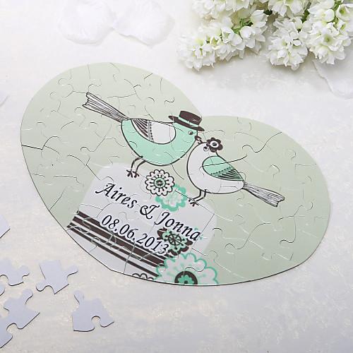 Heart Shaped Персонализированные головоломки - Love Birds Lightinthebox 204.000