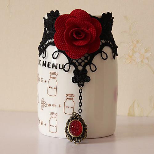 Цветущая роза ручной Черное кружево Готическая Лолита браслет кольца Lightinthebox 601.000