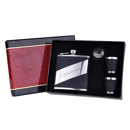 персонализированные 4 компонента качественной нержавеющей стали 6 унций колбу подарочный набор Lightinthebox 386.000