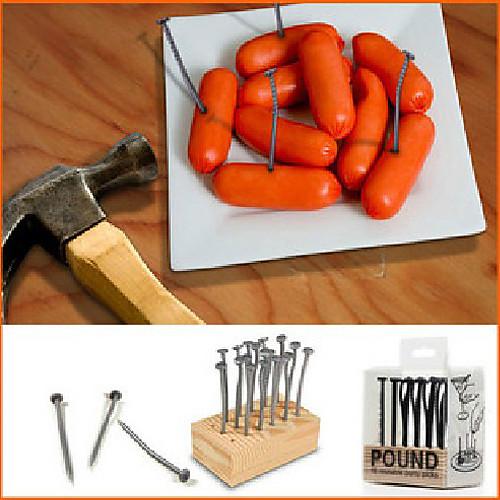 Креативные многоразовые пластиковые вилочки в форме гвоздей для закусок (18 шт в упаковке) Lightinthebox 171.000