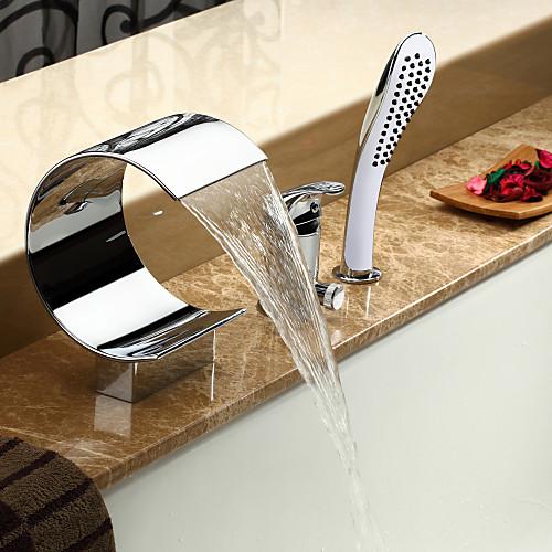 Современный смеситель-водопад для ванны  ручная лейка (хромирование) Lightinthebox 7734.000