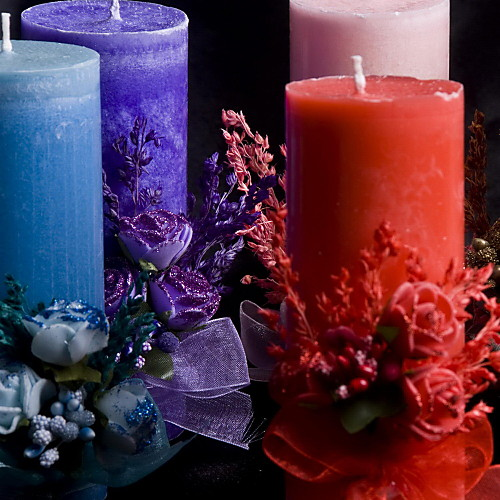 красочные свечи с бантом Lightinthebox 267.000