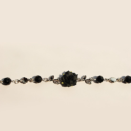 Ручная Черная роза серебряный сплав Vine Готическая Лолита браслет Lightinthebox 1073.000