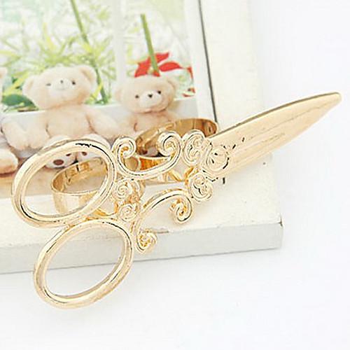 Позолоченный сплав Ножницы Pattern двойные кольца Lightinthebox 214.000