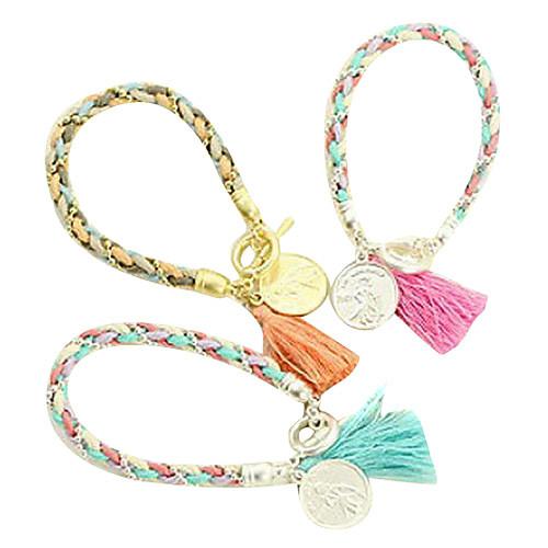 Color Matching шерстяной пряжи монет подвеска Тканые браслет (разных цветов) Lightinthebox 214.000
