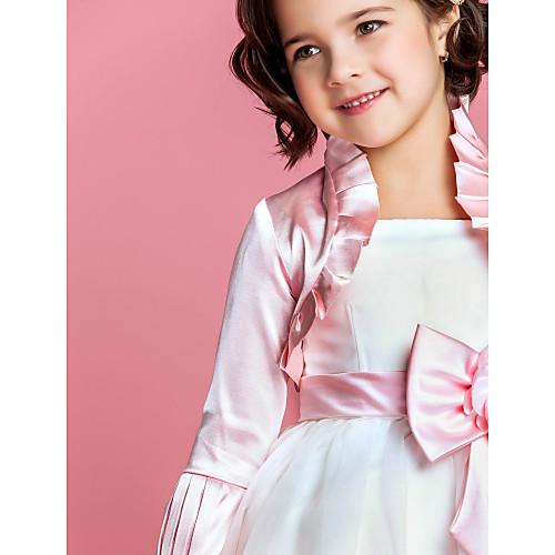 Нежная атласная с длинным рукавом Цветочница партии / Куртка Свадьба / Wrap (другие цвета) Lightinthebox 554.000