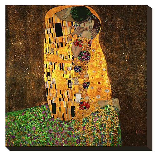 Поцелуй Густава Климта Известные натянутым холстом для печати Lightinthebox 858.000