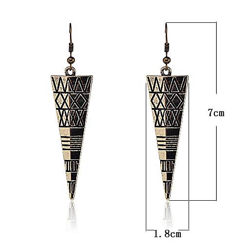 Винтажные серьги в форме перевернутых треугольников (