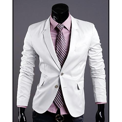 Мужская Solid Color Две кнопки костюм Lightinthebox 1787.000