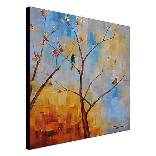 Ручной росписью маслом Ботанический дерево и птица-1305 FL0129 Lightinthebox 2148.000