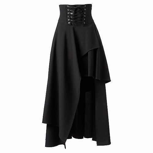 Steampunk Готика Лолита Steampunk Punk Rave Жен. Юбки Нижняя юбка Косплей Черный Средняя длина костюмы