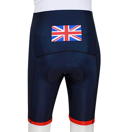 Kooplus 2013 британских Pattern эластичная ткань дышащая мужская велосипедные шорты с 6D Pad Lightinthebox 858.000