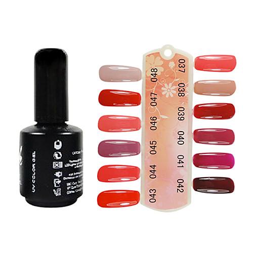УФ-гель Soak Off цвета лак для ногтей (15 мл, разные цвета, No.37-48) Lightinthebox 343.000