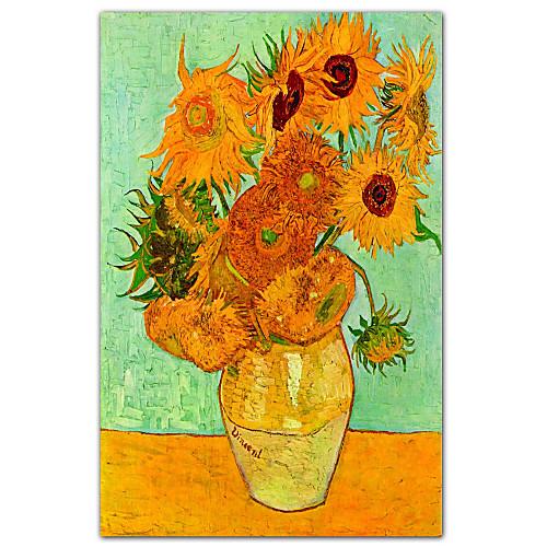 Подсолнухи, c.1889 Винсента Ван Гога Известные натянутым холстом для печати Lightinthebox 858.000