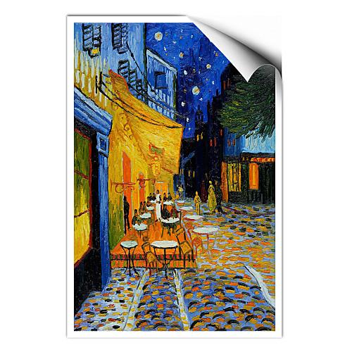 Терраса кафе на Пляс-дю-форум, Арль, ночью, c.1888 Винсента Ван Гога известный постер Lightinthebox 858.000
