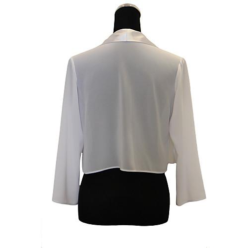 Ницца с длинным рукавом шифоновое вечернее / Повседневная Wrap / куртка (другие цвета) Lightinthebox 858.000