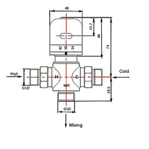 Термостатический смеситель (0912-PHW-02) Lightinthebox 858.000