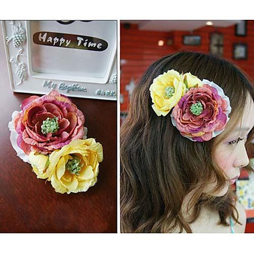 Сладкие романтические женские Двухместный волос цветы клип Lightinthebox 901.000