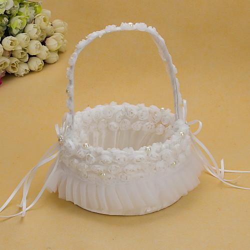 довольно корзине свадебный цветок с белой органзы розы Lightinthebox 591.000