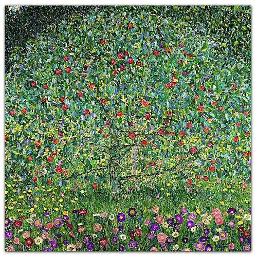 Apple Tree 1912 Густава Климта Известные натянутым холстом для печати Lightinthebox 1073.000