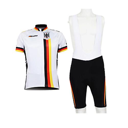 Kooplus 2013 Германия Pattern 100% полиэстер с коротким рукавом Quick Dry Короткие мужские костюмы BIB Велоспорт Lightinthebox 2148.000