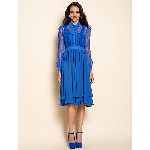 Винтажное шифоновое платье с кружевной отделкой TS Lightinthebox 1535.000