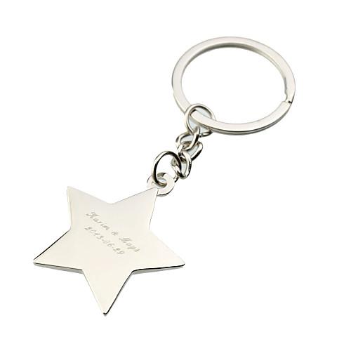 Персонализированные Звезда с кольцом Rhinestone ключ (набор из 6) Lightinthebox 445.000