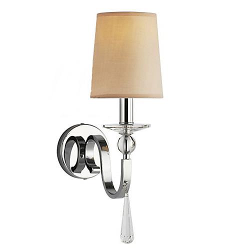 40W Современный настенный светильник с тканью тень люстры стиля капли Кристалл Arm Lightinthebox 2577.000