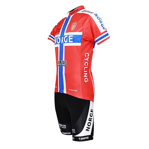 Kooplus 2013 Норвегия Pattern 100% полиэстер с коротким рукавом Quick Dry Велоспорт мужские костюмы Lightinthebox 1933.000