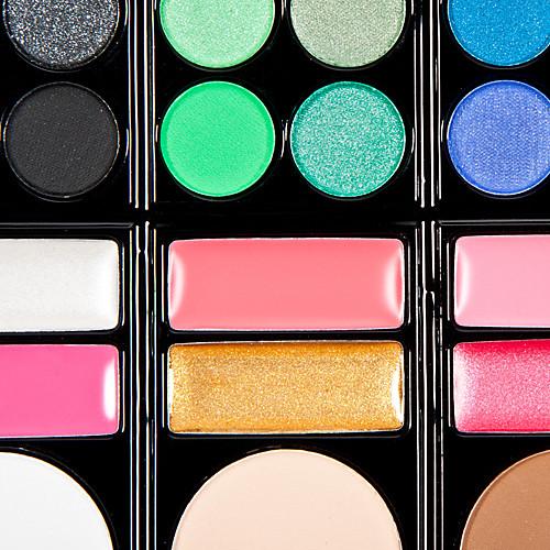 78 цвета 3in1 профессиональный 60 тени для век 12 помада 6 румяна макияж косметическим палитру с зеркалом и 2 губки аппликатора Lightinthebox 773.000