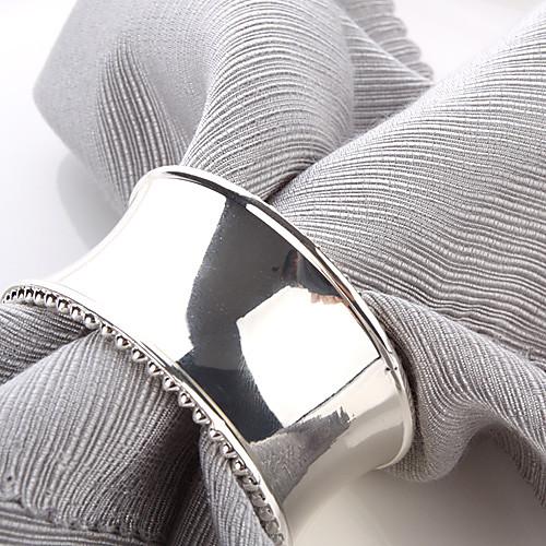 Набор из 4 Современное кольцо Салфетка Люкс Цинк сплав Lightinthebox 386.000
