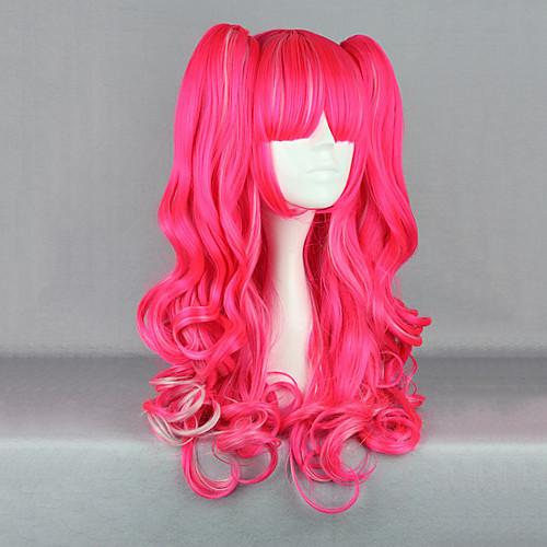 Клубника Фантазия розовая Вьющиеся Пигтейл 65см Панк Лолита парик Lightinthebox 1718.000