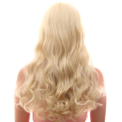 Монолитным 20% человеческих волос длинные волнистые светлые волосы парики Lightinthebox 1550.000