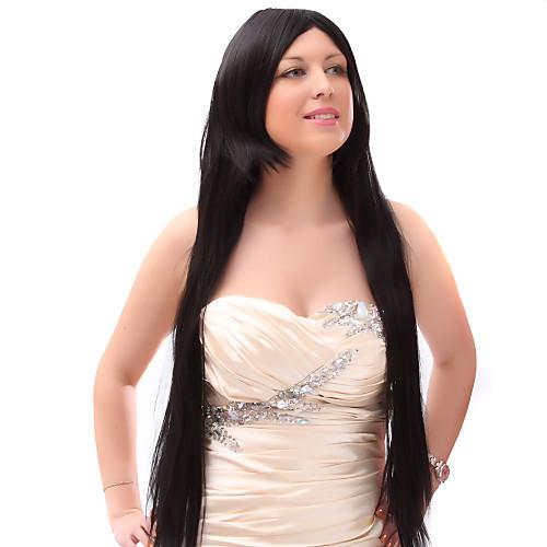 Монолитным 20% человеческих волос Длинные прямые черные волосы парики Lightinthebox 1718.000