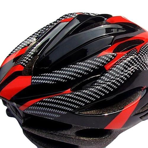 SHR EPS Материалы легкий портативный Ajustable Шлемы Велоспорт (19 Вентиляционные отверстия, черный и красный) Lightinthebox 858.000