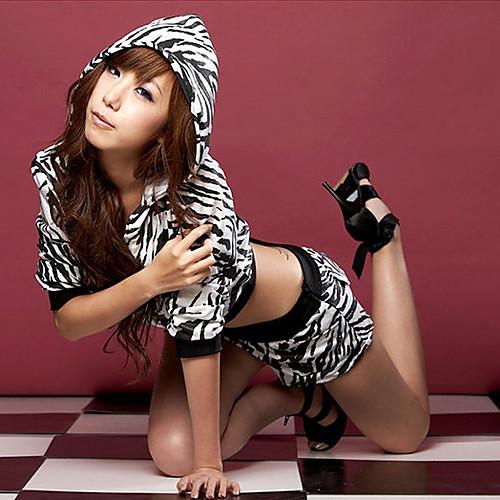 Сексуальная Cool Girl черно-белые зебры Stripes хип-хоп танца Костюм (3 шт) Lightinthebox 858.000