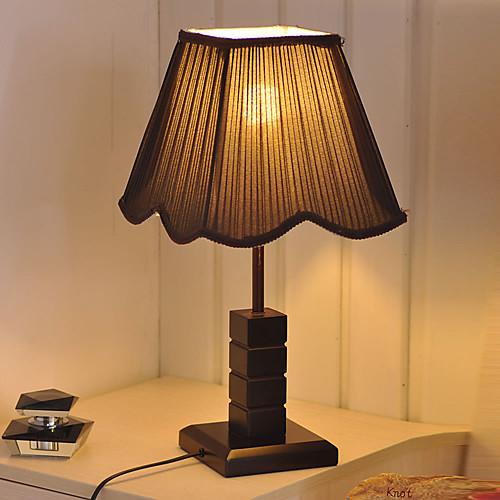 Vintage Настольные лампы древостоя Тонкие тканевым абажуром Lightinthebox 3437.000